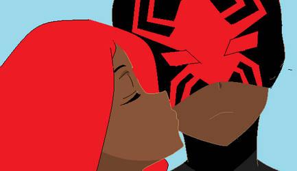 Kiss on the  Cheek by SpiderSilk15