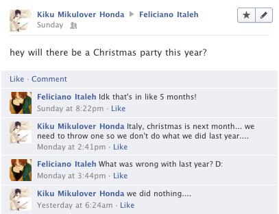 Hetalia Facebook: Christmas Already? by gilxoz-epicness
