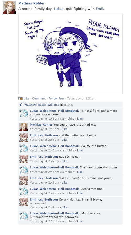 Facebook chat in norway