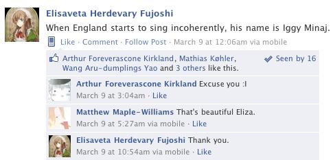 Hetalia Facebook: Singing Iggy by gilxoz-epicness