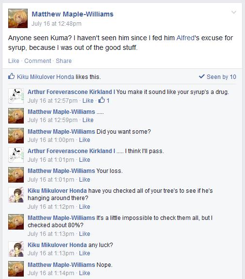 Hetalia Facebook: Finding Kuma by gilxoz-epicness