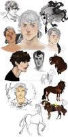 sketch dump | rootin tootin humans n ponies