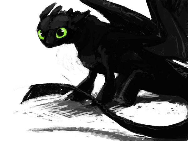 toothless warmup by ArtemisDragon