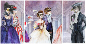 La Mascarade- triptych