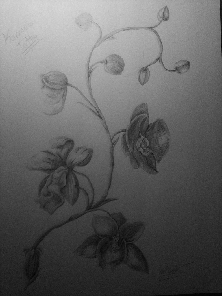 Black And White Orchid Tattoo Ideas Pictures to Pin on ...