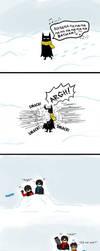 Batman Caught In The Middle by CrimsonHorror