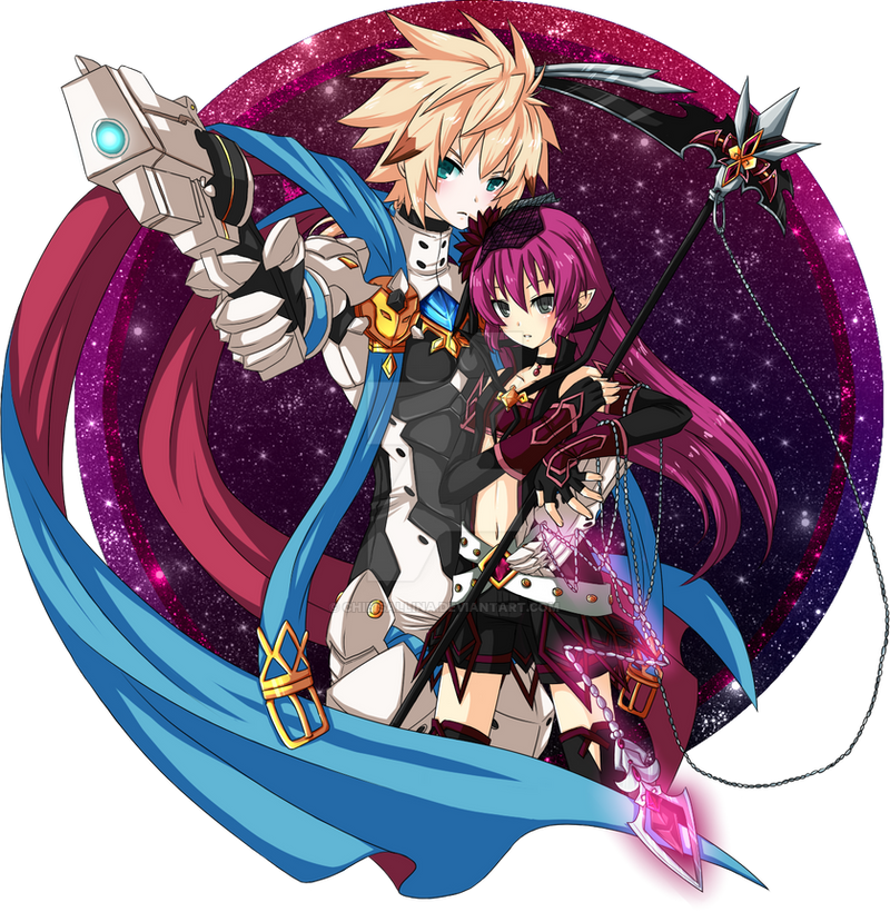 Elsword X Oc The Chaser And The Huntress By Chibisallina On Deviantart