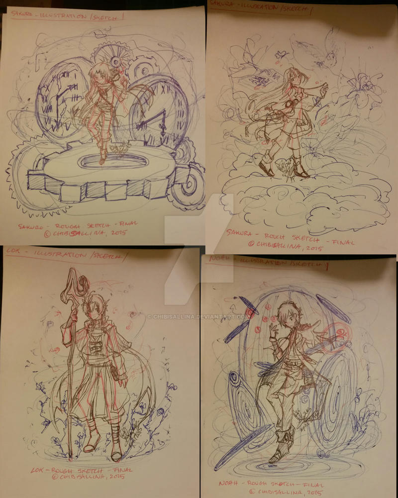 [20150428] Illustration Sketch Collections [TMP] by ChibiSalLina