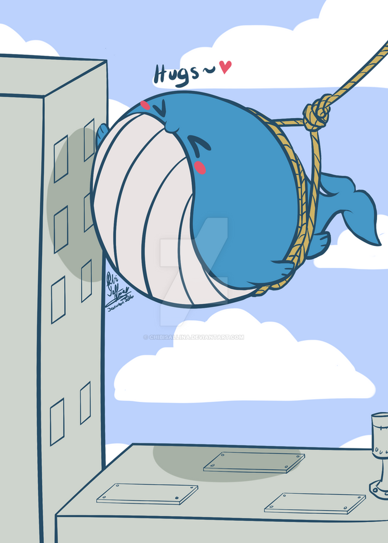 [Pokemon] Wailord Wrecking Ball by ChibiSalLina
