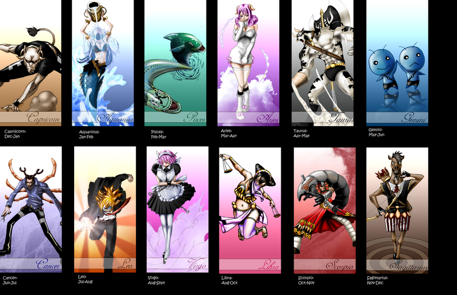 Fairy Tail: The 12 Zodiacs by BeyMechanic