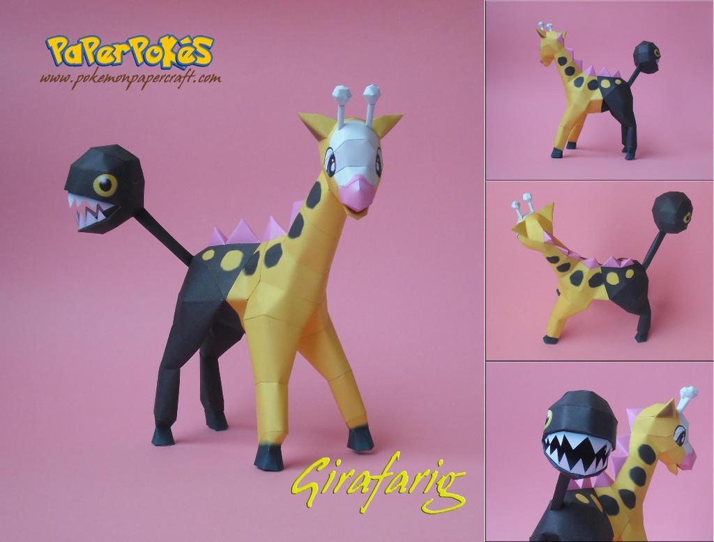 Girafarig Papercraft by Olber-Correa
