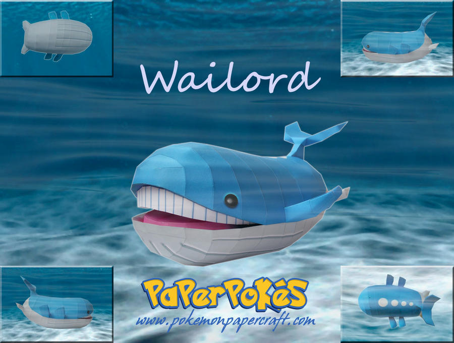 Wailord Papercraft by xDCosmo