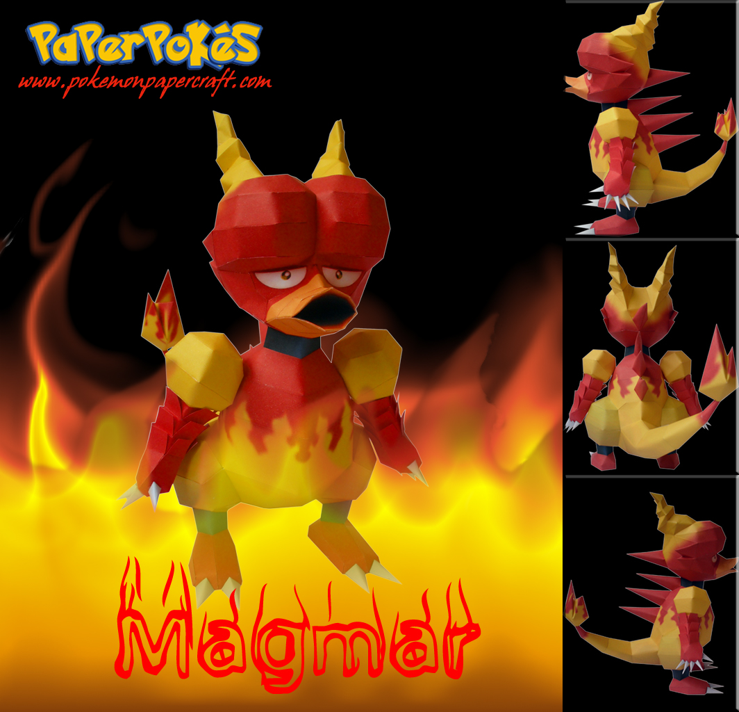 Magmar Papercraft by Olber-Correa