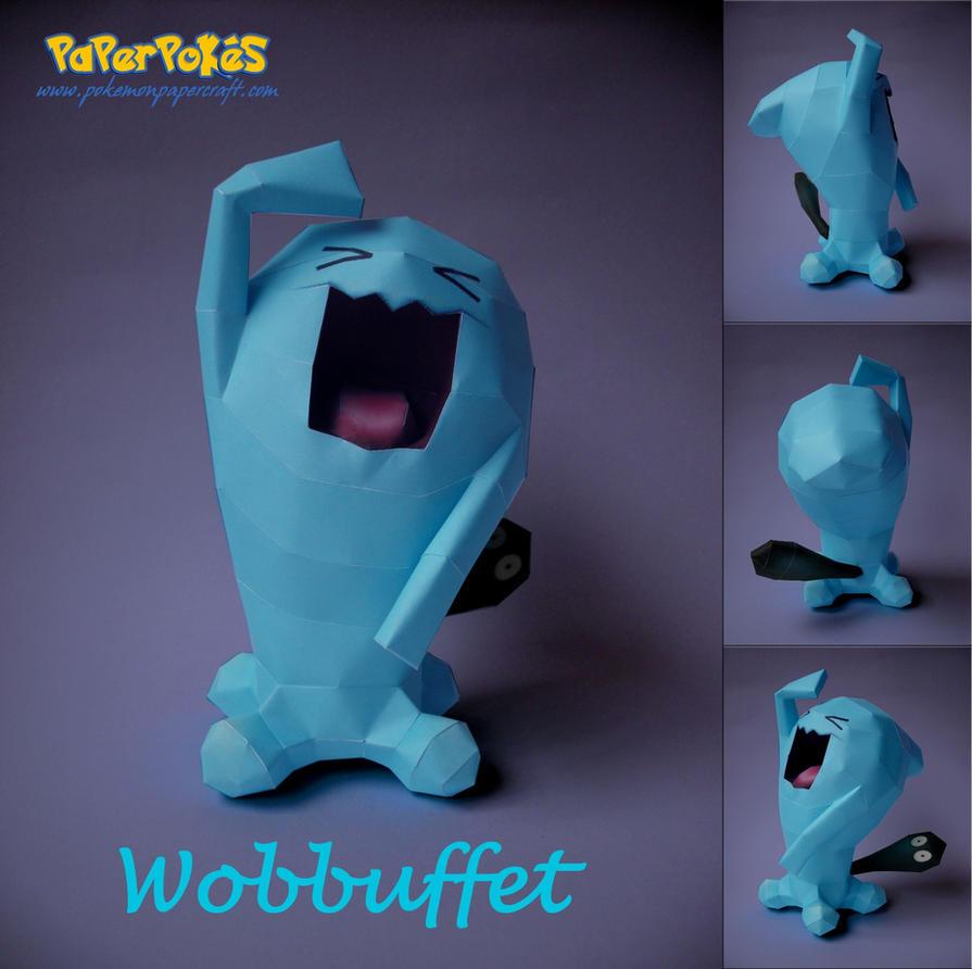 Wobbuffet Papercraft by Olber-Correa