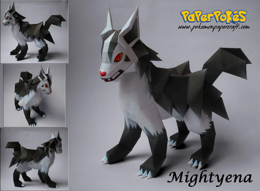 Mightyena Papercraft by xDCosmo