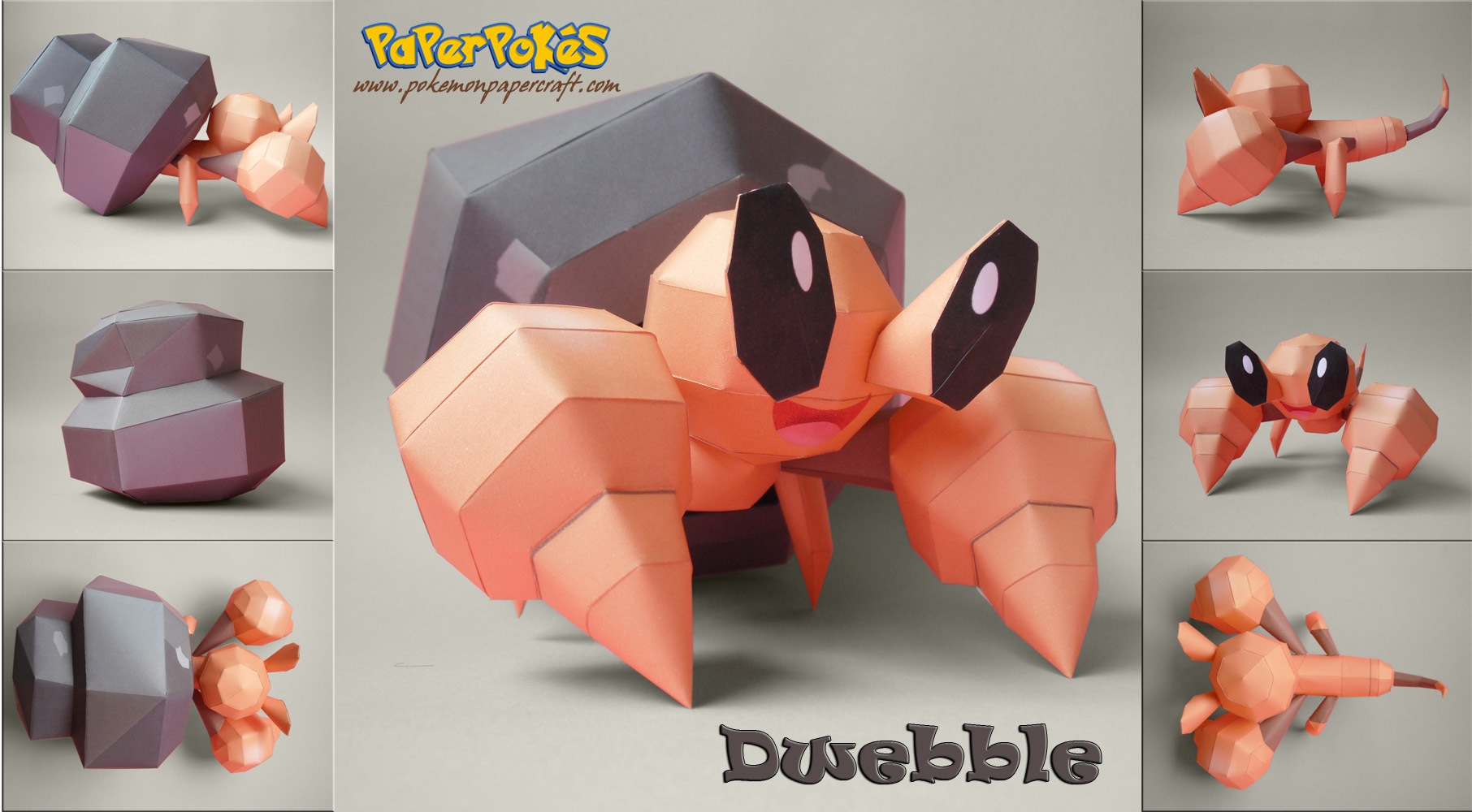 Dwebble Papercraft by xDCosmo