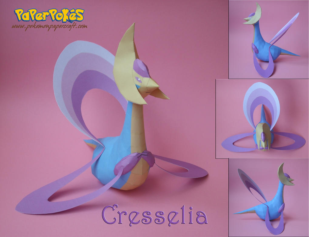 Cresselia Papercraft by xDCosmo