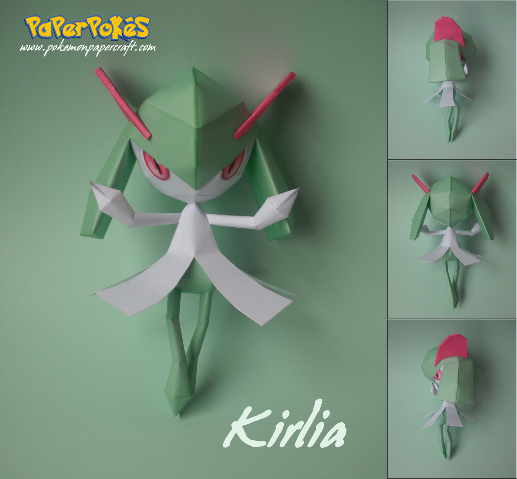 Kirlia Papercraft by xDCosmo