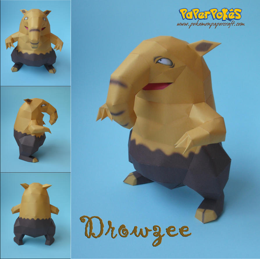 Drowzee papercraft by Olber-Correa