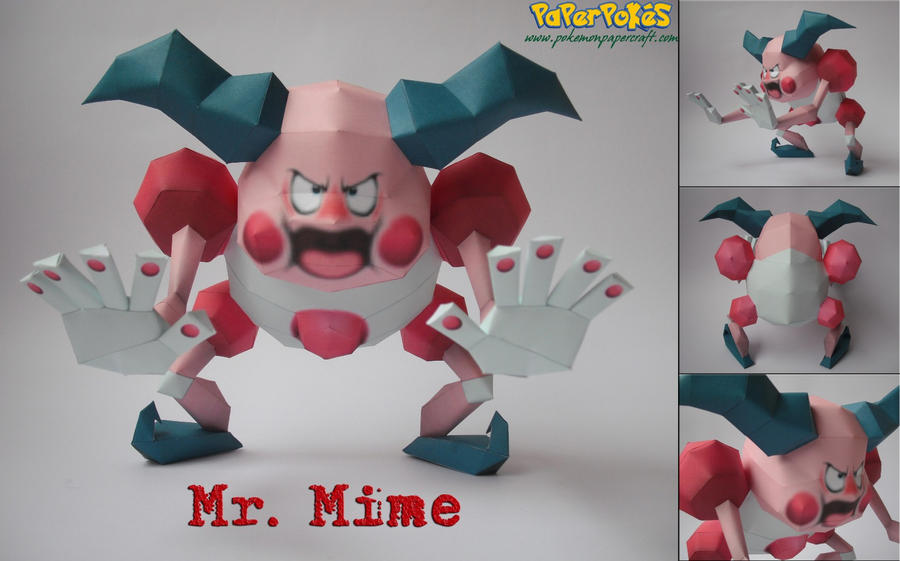 Mr. Mime Papercraft by xDCosmo