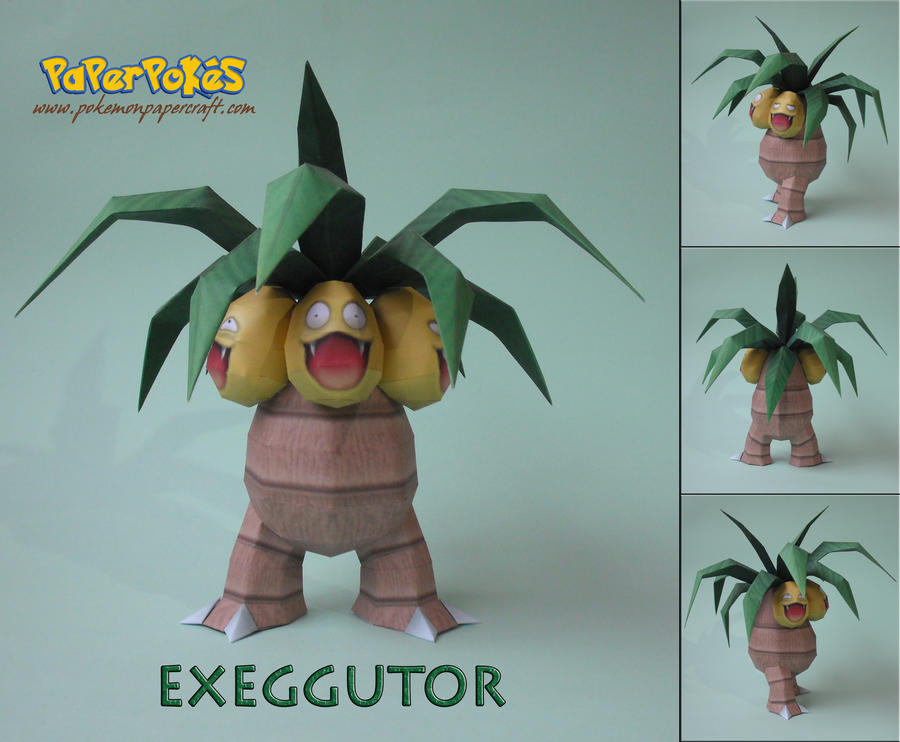 Exeggutor Papercraft by Olber-Correa
