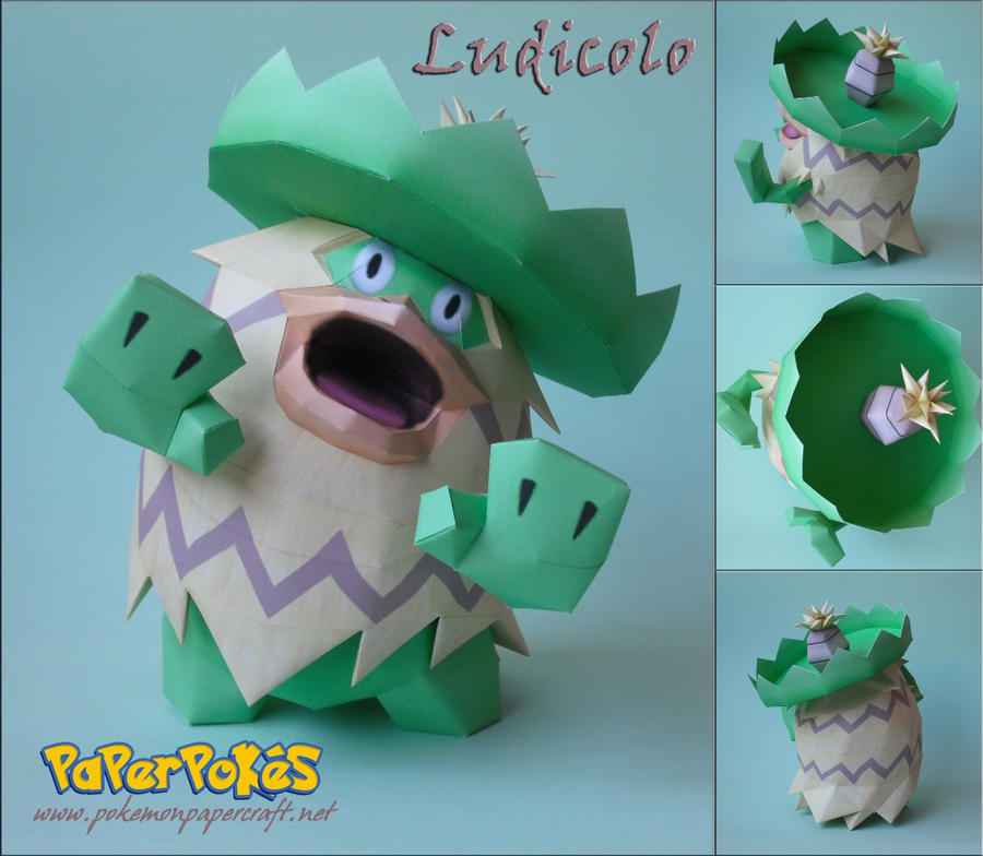 Ludicolo Papercraft by xDCosmo