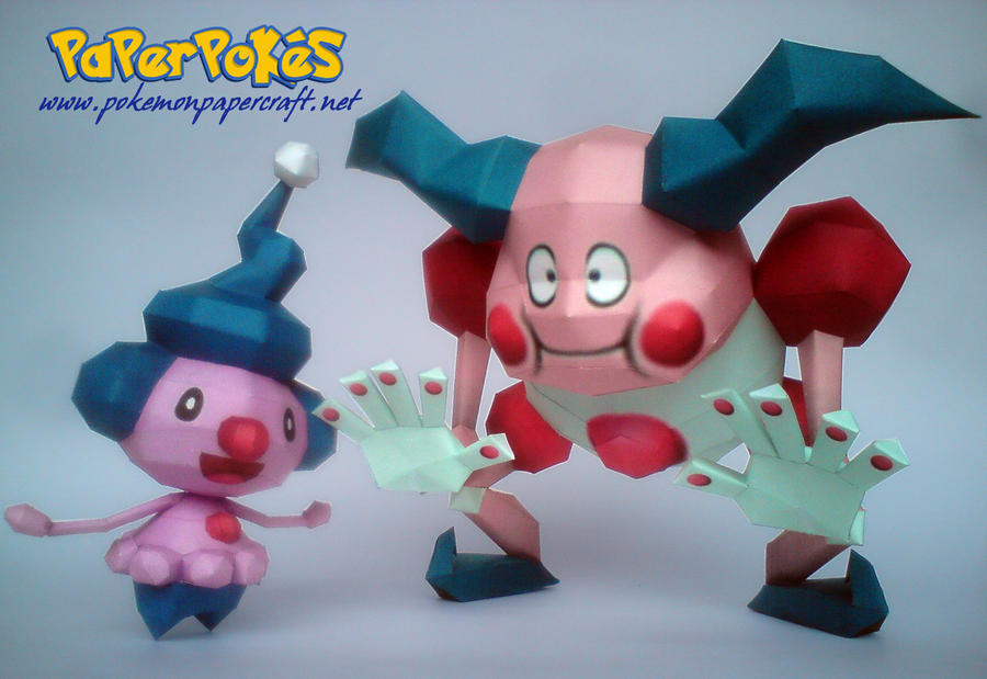 Mime Jr and Mr. Mime Papercraft by Olber-Correa