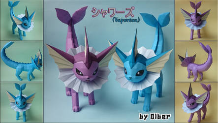 Vaporeon Papercraft by Olber-Correa