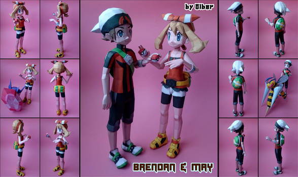 Brendan and May Papercraft