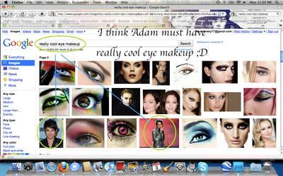 Adam has cool eye makeup by Rainstar17