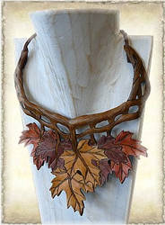 Leather necklace M25-2a