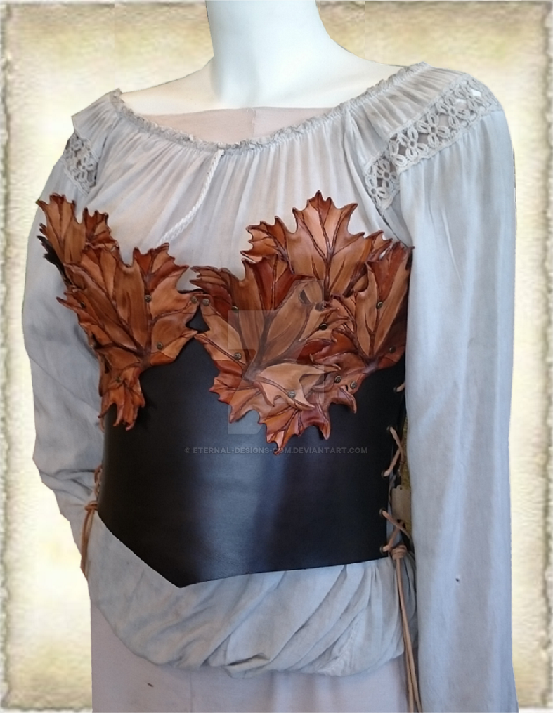 leather corset M6-6 by Eternal-designs-com