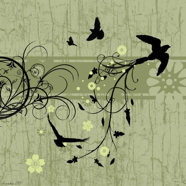 grunge and birds by sweetkizz