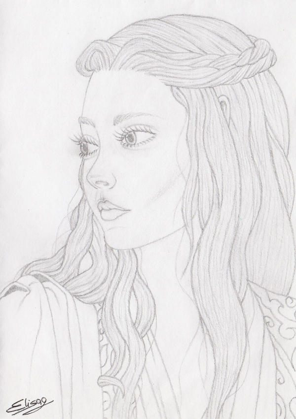 Margaery Tyrell Sketch by ElyGraphic