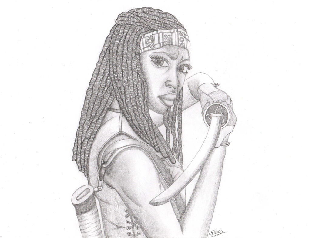 The Walking Dead - Michonne by ElyGraphic