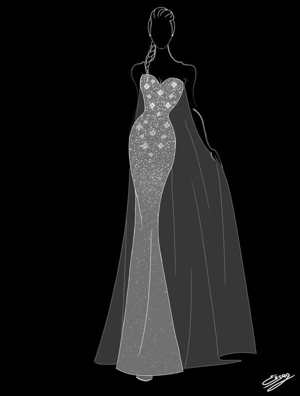 Elsa Wedding Dress by ElyGraphic