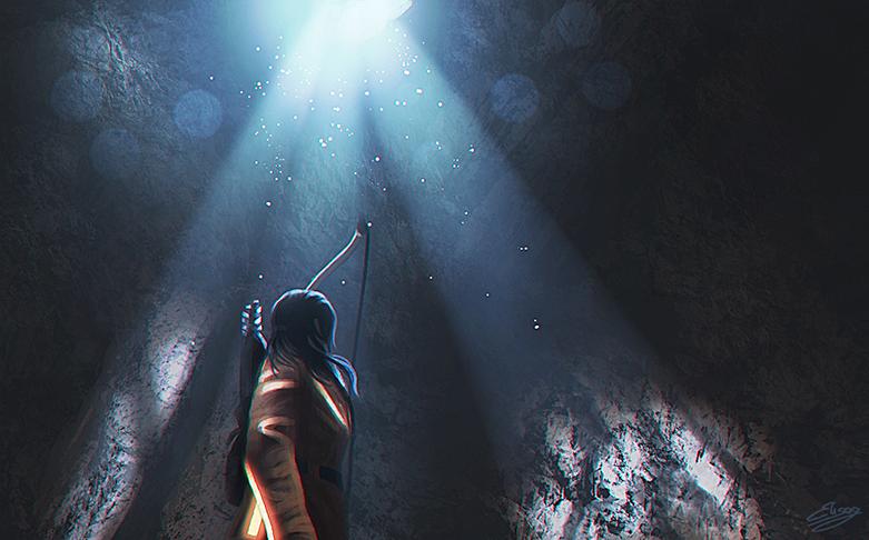 Rise Of The Tomb Raider Concept Art (with Lara) by ElyGraphic