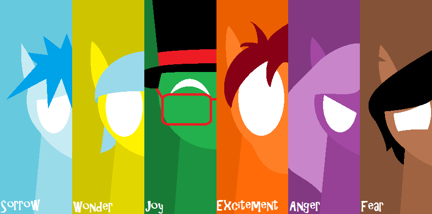 My Mane Six - Six Emotions by wholetthemonstersout