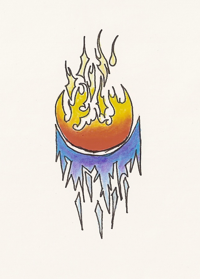 Fire and ice by chaoticchild555 on deviantart for Fire and ice tattoo shop