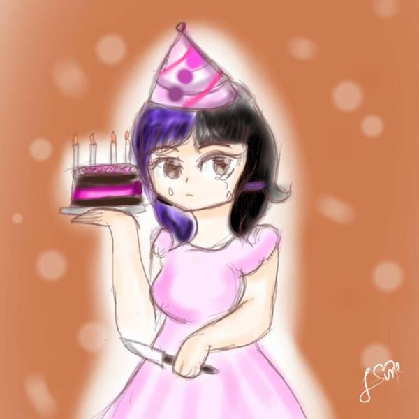 Melanie pity party  by Linekawaiiarts