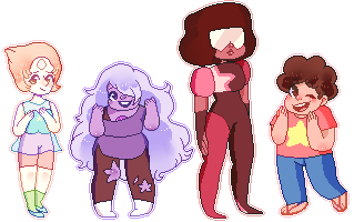 steven universe pixels!! free to use by fairypaws