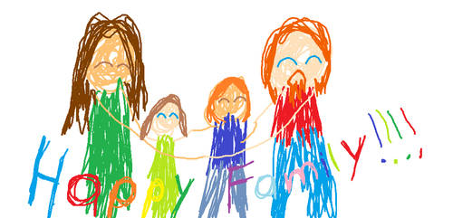 Happy Family Lily's drawing