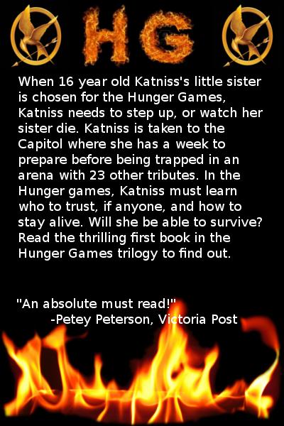 Hunger Games book cover: Back by ivykit626 on DeviantArt