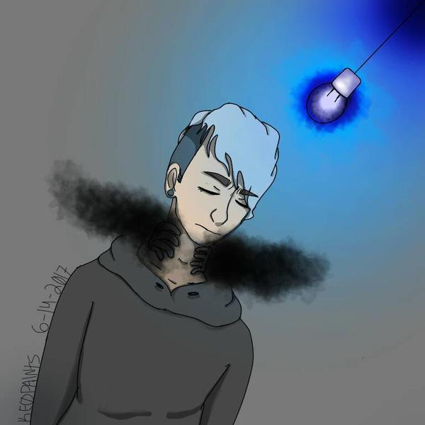 Suffocation-first digital art by RandomKEO