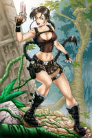 Lara Croft commission by voltesfibz