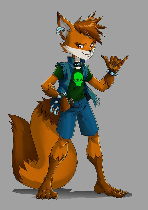 Ian McFoxx by voltesfibz