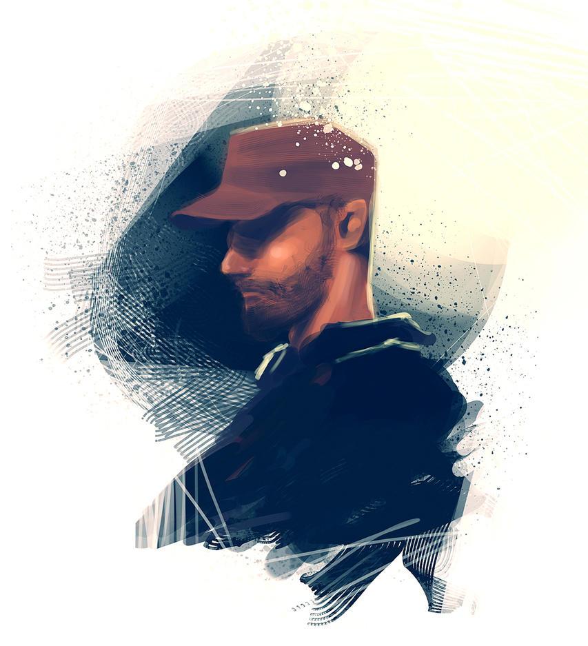self portrait by slipled