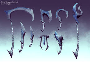 Ebony Weapons Concept by slipled