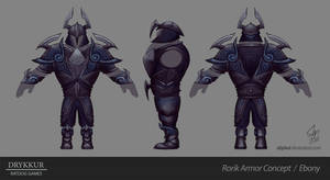Ebony Armor Concept by slipled