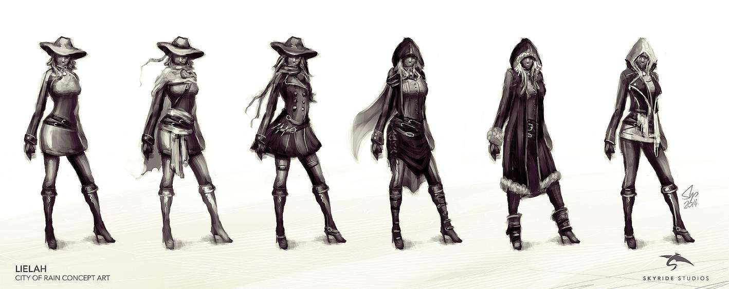 Lielah Character Concept Sketches by slipled